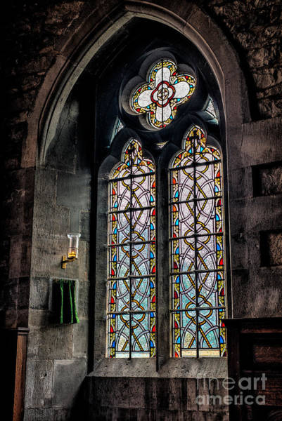 Holy Trinity Photograph - Gothic Window by Adrian Evans