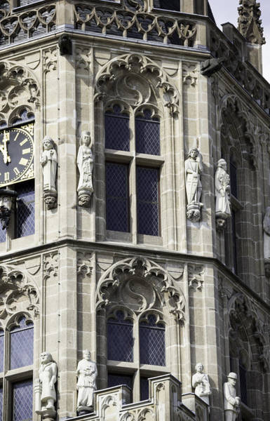 Glockenspiel Photograph - Gothic Windows On Tower Of Rathaus Cologne Germany by Teresa Mucha