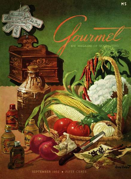 Fruits Photograph - Gourmet Cover Featuring A Variety Of Vegetables by Henry Stahlhut