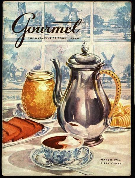 Drink Photograph - Gourmet Cover Featuring An Illustration by Hilary Knight