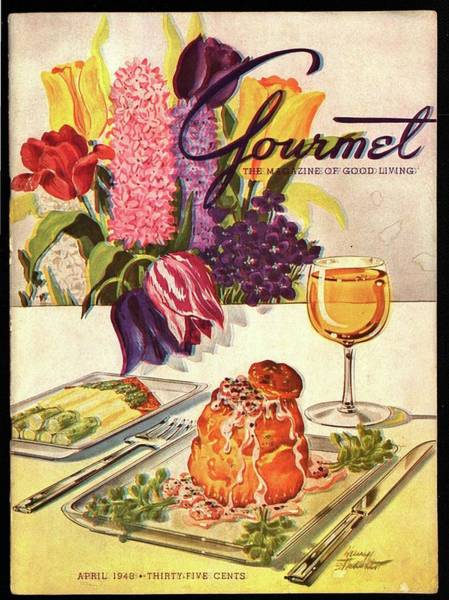 Bread Photograph - Gourmet Cover Featuring Sweetbread And Asparagus by Henry Stahlhut