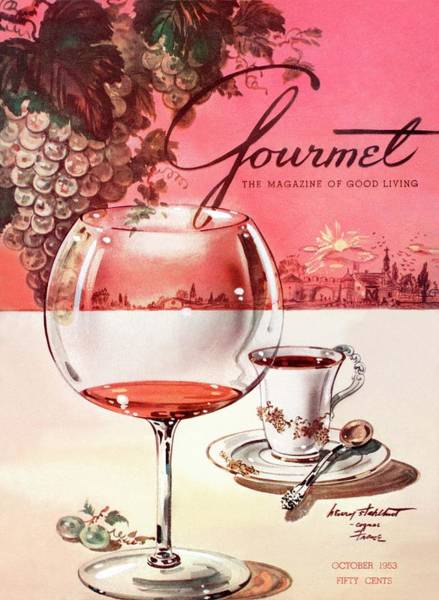 Drinking Coffee Photograph - Gourmet Cover Illustration Of A Baccarat Balloon by Henry Stahlhut