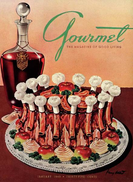 January 1st Photograph - Gourmet Cover Illustration Of A Crown Roast by Henry Stahlhut