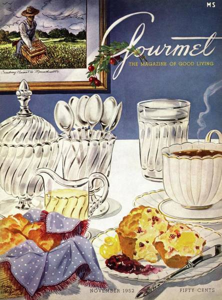November 1st Photograph - Gourmet Cover Illustration Of Cranberry Muffins by Henry Stahlhut