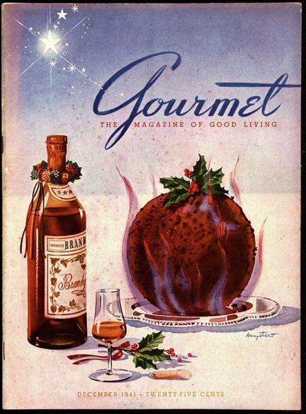 Plate Photograph - Gourmet Cover Illustration Of Flaming Chocolate by Henry Stahlhut