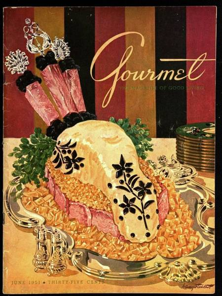 Meat Photograph - Gourmet Cover Illustration Of Langue De Boeuf by Henry Stahlhut
