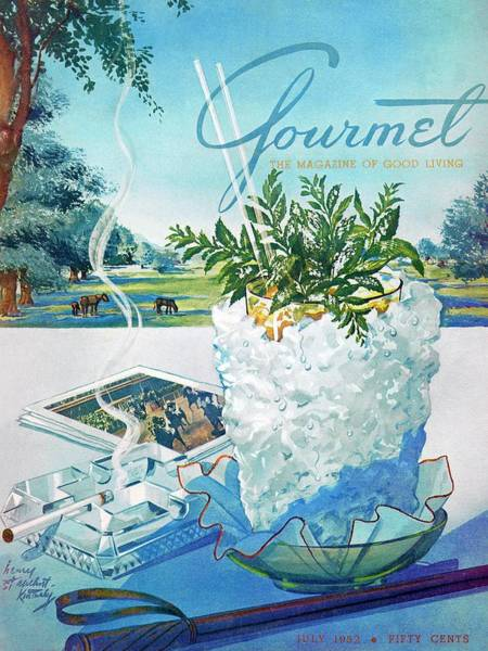 Herbs Photograph - Gourmet Cover Illustration Of Mint Julep Packed by Henry Stahlhut