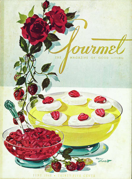 Berry Photograph - Gourmet Cover Of A Bowl Of Custard by Henry Stahlhut