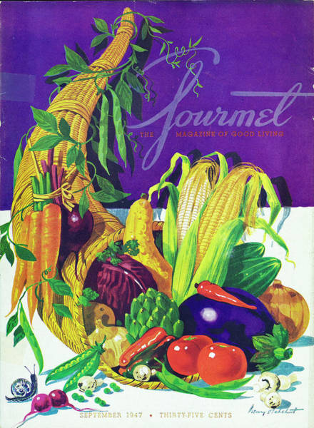 Purple Carrot Photograph - Gourmet Cover Of A Cornucopia by Henry Stahlhut