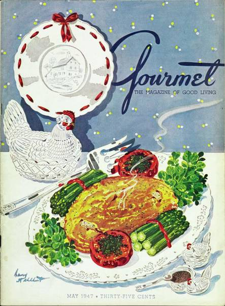 Table Setting Photograph - Gourmet Cover Of An Omelette by Henry Stahlhut