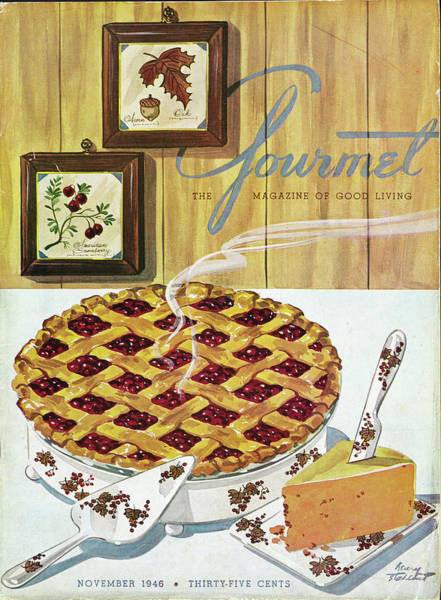Berry Photograph - Gourmet Cover Of Cranberry Pie by Henry Stahlhut