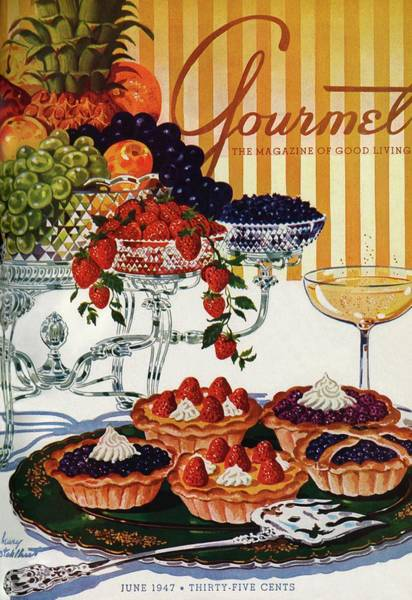 Fruits Photograph - Gourmet Cover Of Fruit Tarts by Henry Stahlhut