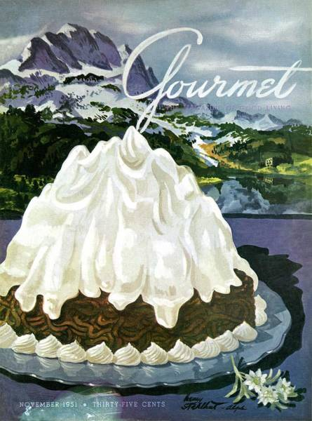 Photograph - Gourmet Cover Of Mont Blanc Aux Marrons by Henry Stahlhut