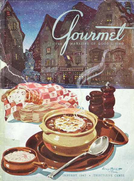 Bread Photograph - Gourmet Cover Of Onion Soup by Henry Stahlhut