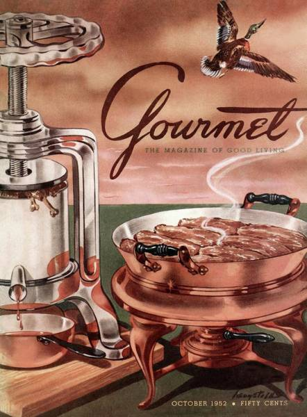 Silver Photograph - Gourmet Cover Of Pressed Duck by Henry Stahlhut