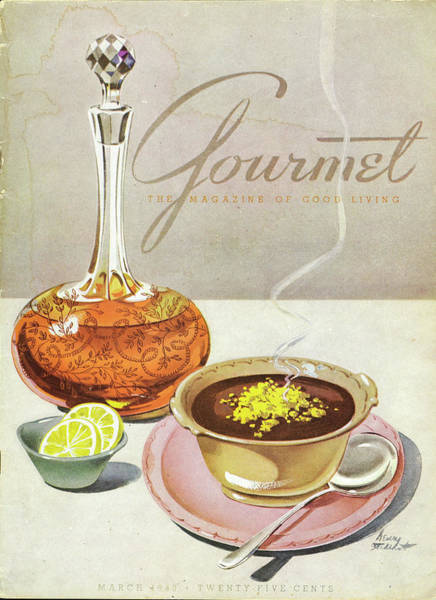 Plate Photograph - Gourmet Cover Of Soup by Henry Stahlhut