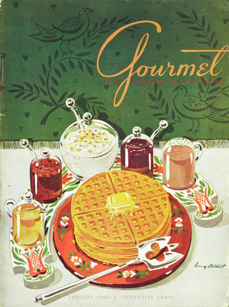 Plate Photograph - Gourmet Cover Of Waffles by Henry Stahlhut
