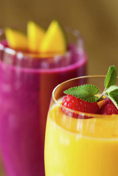 Purple Carrot Photograph - Gourmet Refreshing Fruit Smoothie by Adventure photo
