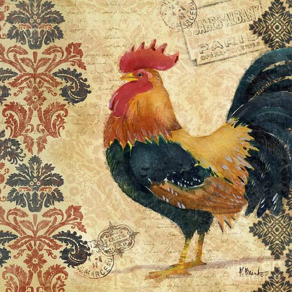 Wall Art - Painting - Gourmet Rooster II by Paul Brent