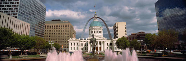 Wall Art - Photograph - Government Building And Fountain by Panoramic Images