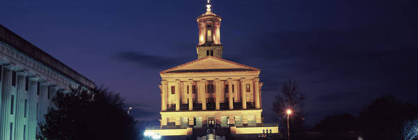 Wall Art - Photograph - Government Building At Dusk, Tennessee by Panoramic Images
