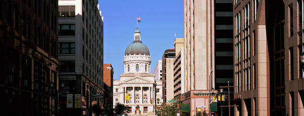 State Of Indiana Photograph - Government Building In A City, Indiana by Panoramic Images