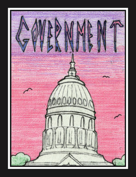 Drawing - Government by Jason Girard