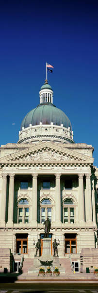 State Of Indiana Photograph - Governor Oliver Morton Monument by Panoramic Images