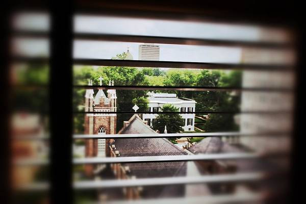 Photograph - Governor's Mansion Blinds by Jim Albritton