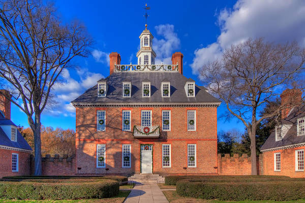 Williamsburg Photograph - Governors Palace by Tim Wilson