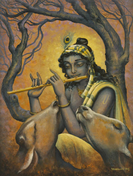 Indian God Painting - Govinda by Vrindavan Das