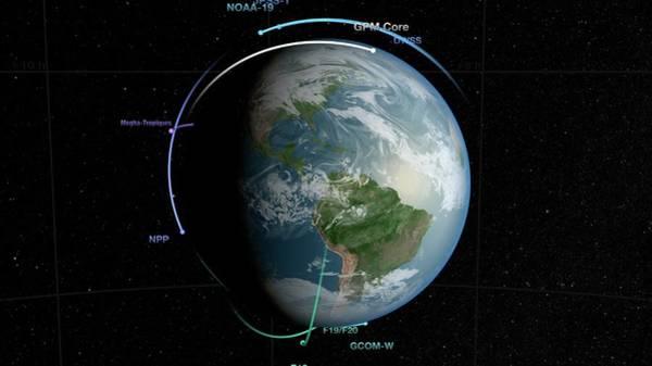 Suomi Photograph - Gpm Satellite Constellation by Nasa/goddard Space Flight Center Svs