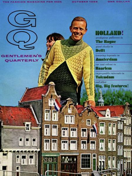 Photograph - Gq Cover Featuring Models Superimposed by Richard Waite