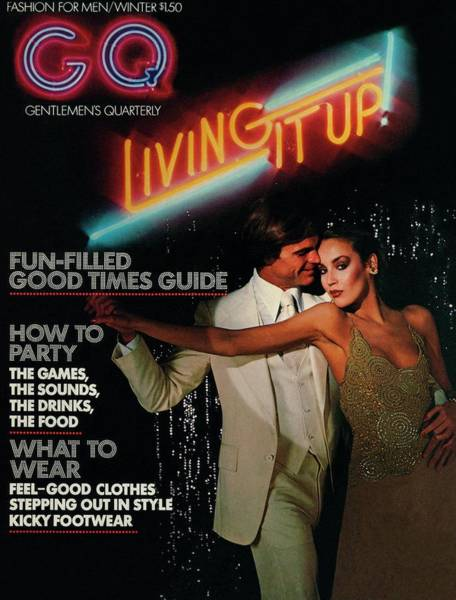 Formal Wear Photograph - Gq Cover Of A Couple In Disco Setting by Chris Von Wangenheim