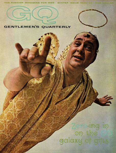 Gesture Photograph - Gq Cover Of Actor Zero Mostel In An Angel Costume by Art Kane