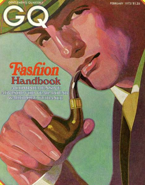 Photograph - Gq Cover Of An Illustration Of A Man Smoking Pipe by Alex Gnidziejko