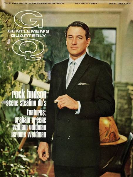 Photograph - Gq Cover Of Rock Hudson Wearing A Suit by John Bryson