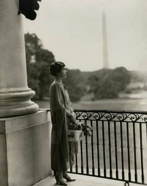 Plant Photograph - Grace Coolidge By The Washington Monument by Nickolas Muray