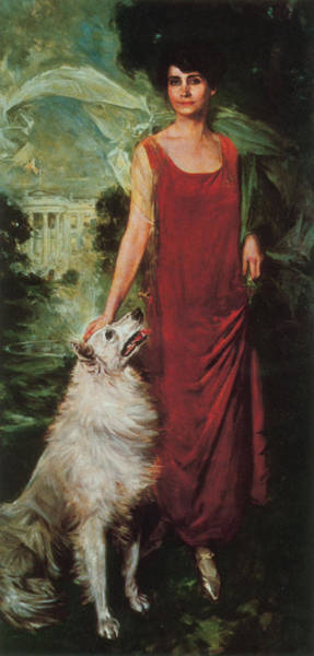 Wall Art - Painting - Grace Coolidge, First Lady by Science Source