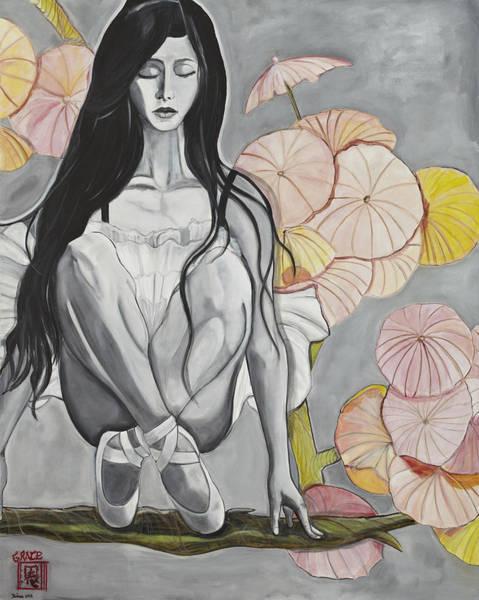 Crossed Legs Painting - Grace by Darlene Graeser