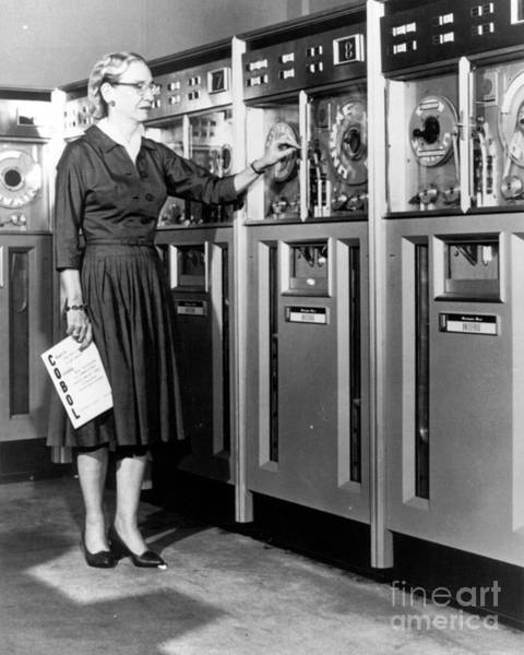 Notable Photograph - Grace Hopper, American Computer by Science Source