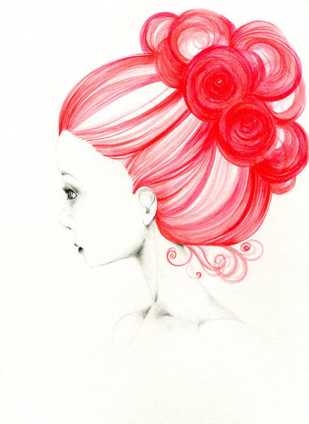 Hairdo Drawing - Grace by Joanna Haber