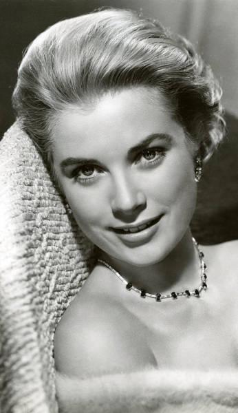 Golden Princess Photograph - Grace Kelly Smiles by Retro Images Archive