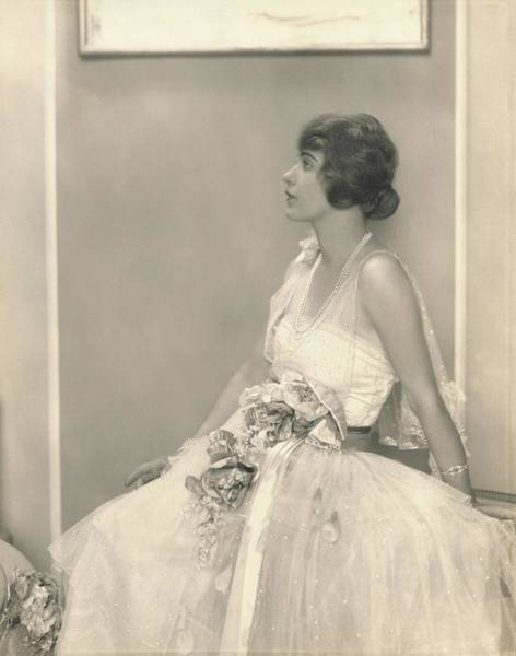 Wall Art - Photograph - Grace Moore Wearing A Tulle Dress by Edward Steichen