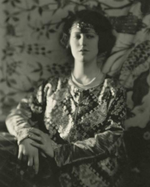 1922 Photograph - Grace Moore Wearing An Embroidered Jacket by Nickolas Muray