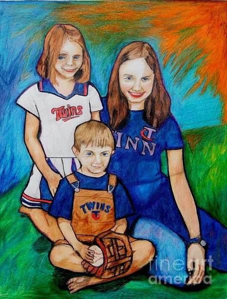 Drawing - Grace Noah Aleesha by Jon Kittleson