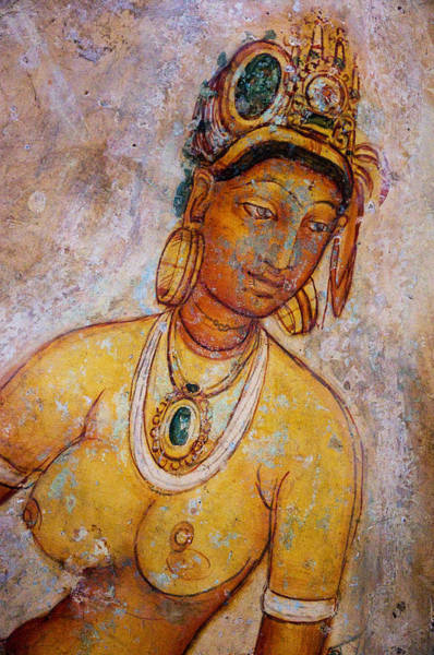 Golden Princess Photograph - Graceful Apsara. Sigiriya Cave Painting by Jenny Rainbow