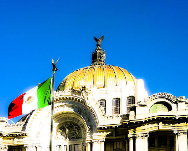 Wall Art - Photograph - Graceful Art Nouveau Dome In Mexico City by Mark Tisdale