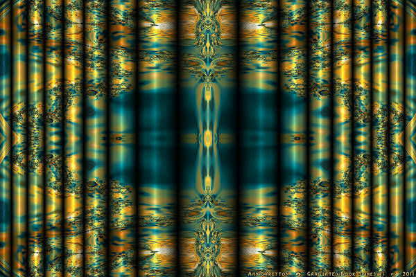 Digital Art - Graduated Book Spines #1  by Ann Stretton