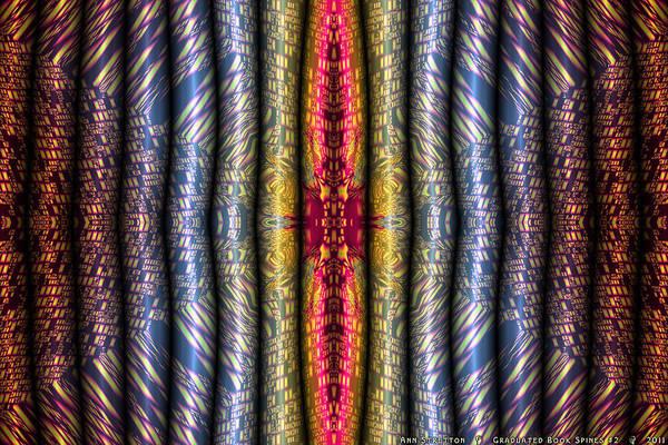Digital Art - Graduated Book Spines #2  by Ann Stretton